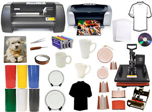 8in1combo Heat Press 13 Metal Vinyl Cutter Plotter printer refil latta Mugs pu