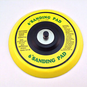 6 Da Vinyl Psa Face Sanding Pad For Dual Action Sanders Use With Stick On Pads