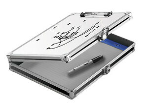 Locking Storage Clipboard Whiteboard Letter Home Office Metal Box Mobile Drawer