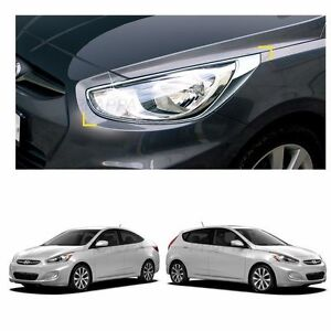 Head Light Lamp Front Cover Molding For Hyundai Accent 2012 2017