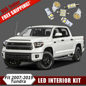 18x 6000k White Led Dome Interior Lights Package Kit For 2007 2019 Toyota Tundra