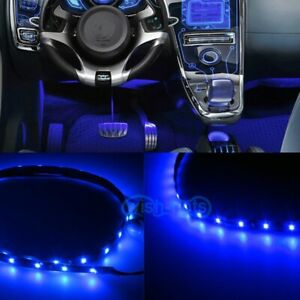 2x 12 Led Blue Interior Strip Footwell Lights Under Dash Bulb Smd Exterior Kp