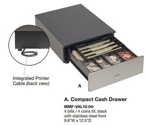 Mmf Val u Line Cash Drawer 10in X 12in Black New Mmf val10 04