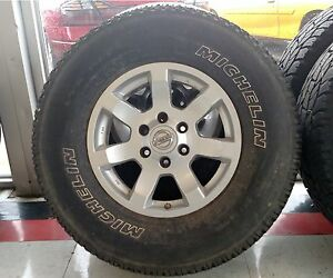 Lt285 70r17 M S Michelin Tires With 6 Lug Nissan Rims