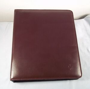 Franklin Covey 7 Ring 1 25 Burgundy Open Binder Planner Organizer W Pages