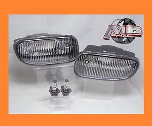 1999 2003 Jeep Grand Cherokee Front Clear Bumper Fog Lights Lamps W Bulbs