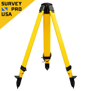 Total Station Heavy Duty Fiberglass Tripod Screw Lock Gps total Station survey