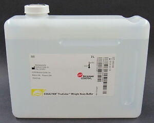 New 4x2 L Beckman Coulter Trucolor Wright Stain Buffer Blood Microscope Slides