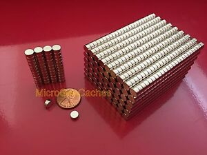 100 6 X 3mm approx 1 4 X 1 8 Strong Rare Earth Neodymium Disc Magnets Neo