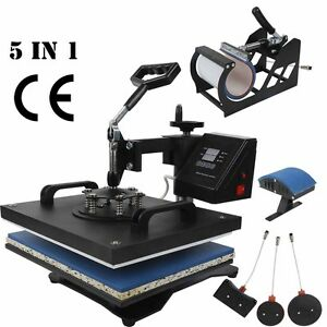 5 In 1 Digital Transfer Sublimation Swing away Heat Press Machine Mug t shirt