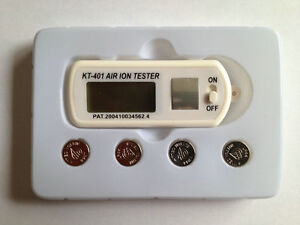Kt 401 Air Ion Tester Meter Concentration Of Negative positive Ions W Peak Hold