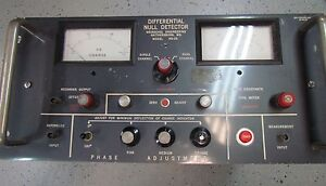 Weinschel Engineering Differential Voltmeter Null Detector Model Nd 2a