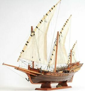 Xebec Corsair Pirates Galley Sailboat 35 Built Wooden Model Ship Assembled