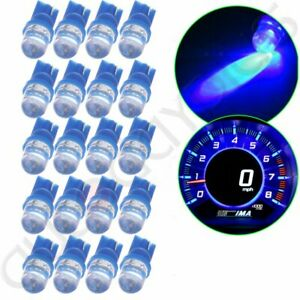 20x T10 194 168 Blue Led Car Instrument Panel Dash Lights Bulbs Lamp For Toyota