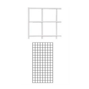 Lot Of 2 New Retail White Wire Grid Wall Panel 2 X 4