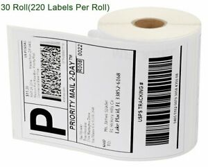 30 Rolls 4x6 Thermal Labels 220 roll Compatible 1744907 Dymo 4xl Labelwriter New