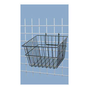 Black Powder Coat Finish Mini grid Basket 12 X 12 X 8