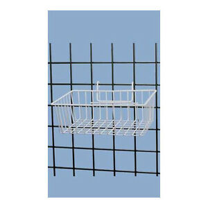 White Powder Coat Finish Mini grid Basket 12 l X 8 w X 4 d