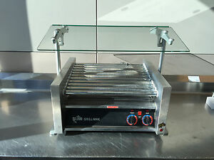 Star Grill max Model 30 Hot Dog Cooker Roller W Premium Glass Sneeze Guard
