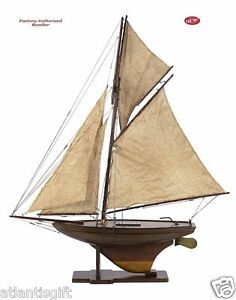 Victorian Pond Yacht 37 Built Sailboat Wood Model Ship Assembled