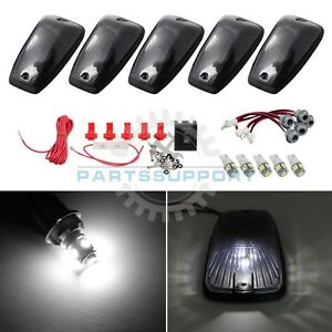 Smoked Cab Lights Marker Roof Top White Led Bulb Wiring For 88 99 C1500 C2500