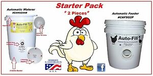Chicken Starter Set 1 Automatic Waterer 1 No Waste Automatic Chicken Feeder