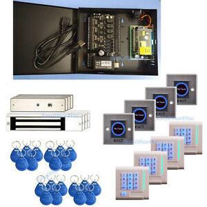 Ip based Access Control Computerized Door Locking System Gym Access Security Kit