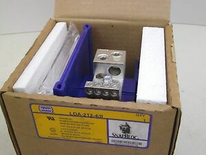 Ilsco Snapbloc Lda 212 4 0 New Terminal Power Dist Block 1 Pole Adder 600v Fk
