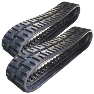 New Rubber Tracks Set Of Two For Mustang Mtl20 450x100x48 C lug 17 7