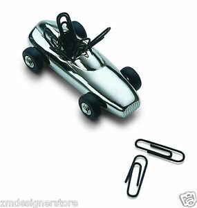 Philippi Germany Speedy Race Car Magnetic Shiny Paper Clip Holder Mens Gift