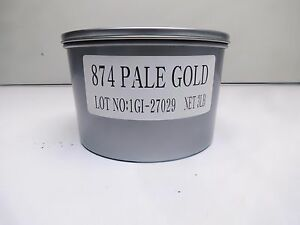 Pantone 874 Metallic pale Gold Offset Printing Ink