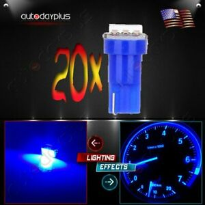 20x 37 73 74 T5 Blue Instrument Panel Gauge Cluster Dash Led Light Bulb 1 Smd