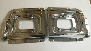 1956 Chevy Belair 210 150 Parking Light Housing Backing Plates Pair Made In Usa