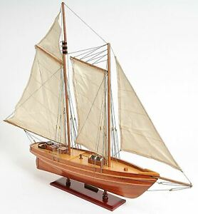 America S Cup America Sailboat 33 Built Wood Model Yacht Assembled