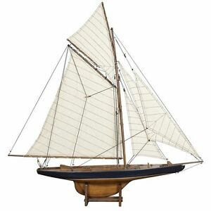 America S Cup Columbia J Class Sailboat Built 37 Wood Model Yacht