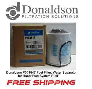 Donaldson P551847 Fuel Filter Water Separator For Racor Fuel System R26p
