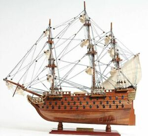 Hms Victory Admiral Nelson S Tall Ship 20 Wood Model With Disply Set Assembled