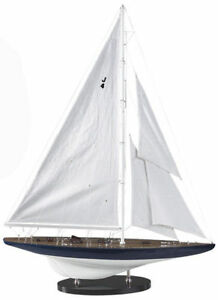 America S Cup Rainbow J Class Sailboat 25 5 Wooden Model Yacht Assembled