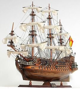 San Felipe Spanish Armada Galleon Tall Ship 37 Wood Model Sailboat Assembled