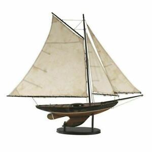 Newport Sloop Sailboat 39 Built Wooden Authentic Models Ship Boat Assembled