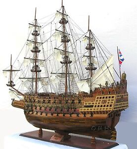 Hms Sovereign Of The Seas 1637 Tall Ship 58 Built Xlarge Wood Model Assembled