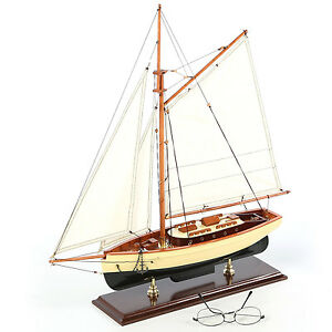 Classic1930 Yacht 22 Built Wood Model Sailboat Assembled