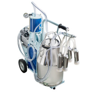 Electric Milking Machine For Cows Bucket Stainless Steel Bucket Usa Ups