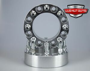 2pc 8 Lug Wheel Spacers 8x6 5 To 8x6 5 2 5 Inch Thick 9 16 18 Studs