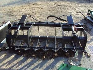 72 Dual Cylinder Brush And Root Grapple For Skid Steers And Tractors