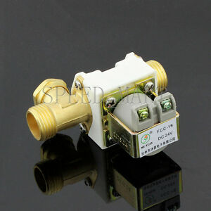 Dc24v Electric Solenoid Valve For Water 1 2 Electric Magnetic Valve Brand New