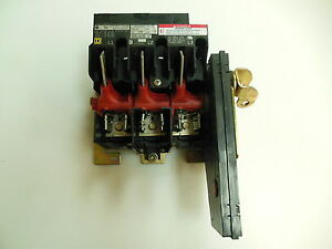 Square D 9422 tcf33 Disconnect Switch 30 Amp 3 Pole 600 Vac dc