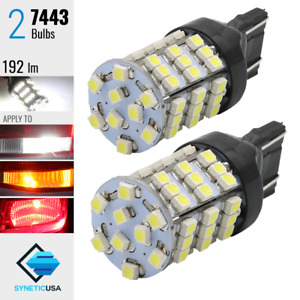 2x 7443 7440 Xenon 6000k White 190lm Front Turn Signal Parking Led Lights Bulb