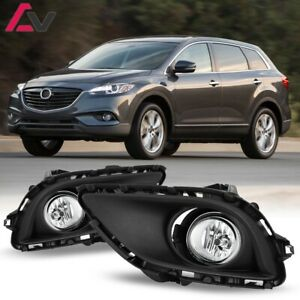 13 15 For Mazda Cx 9 Clear Lens Pair Bumper Oe Fog Light Lamp Wiring Switch Kit