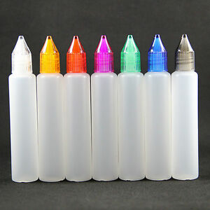 30 Ml New Design 200 Pieces Unicorn Dropper Bottles Pen Shape Plastic Bottle